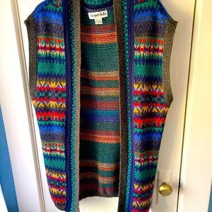 Vintage multicolored sweater vest size L